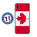 TPU0TPU0A10DRAPCANADA - Coque souple pour Samsung Galaxy A10 avec impression Motifs drapeau du Canada
