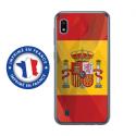 TPU0TPU0A10DRAPESPAGNE - Coque souple pour Samsung Galaxy A10 avec impression Motifs drapeau de l'Espagne