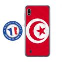 TPU0TPU0A10DRAPTUNISIE - Coque souple pour Samsung Galaxy A10 avec impression Motifs drapeau de la Tunisie
