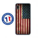 TPU0TPU0A10DRAPUSAVINTAGE - Coque souple pour Samsung Galaxy A10 avec impression Motifs drapeau USA vintage