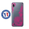 TPU0TPU0A10LACEFUSHIA - Coque souple pour Samsung Galaxy A10 avec impression Motifs Lace fushia