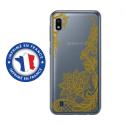 TPU0TPU0A10LACEGOLD - Coque souple pour Samsung Galaxy A10 avec impression Motifs Lace gold