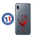 TPU0TPU0A10MAINSANG - Coque souple pour Samsung Galaxy A10 avec impression Motifs main ensanglantée