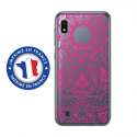 TPU0TPU0A10MANDALAFUSHIA - Coque souple pour Samsung Galaxy A10 avec impression Motifs Mandala fushia