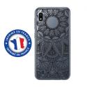 TPU0TPU0A10MANDALANOIR - Coque souple pour Samsung Galaxy A10 avec impression Motifs Mandala noir
