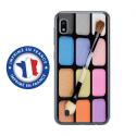 TPU0TPU0A10MAQUILLAGE - Coque souple pour Samsung Galaxy A10 avec impression Motifs palette de maquillage
