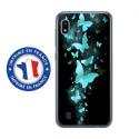 TPU0TPU0A10PAPILLONSBLEUS - Coque souple pour Samsung Galaxy A10 avec impression Motifs papillons bleus