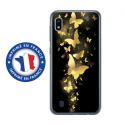 TPU0TPU0A10PAPILLONSDORES - Coque souple pour Samsung Galaxy A10 avec impression Motifs papillons dorés