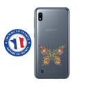 TPU0TPU0A10PAPILLONSEUL - Coque souple pour Samsung Galaxy A10 avec impression Motifs papillon psychédélique