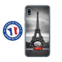 TPU0TPU0A10PARIS2CV - Coque souple pour Samsung Galaxy A10 avec impression Motifs Paris et 2CV rouge
