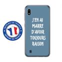 TPU0TPU0A10RAISONBLEU - Coque souple pour Samsung Galaxy A10 avec impression Motifs marre d'avoir raison bleu