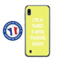 TPU0TPU0A10RAISONJAUNE - Coque souple pour Samsung Galaxy A10 avec impression Motifs marre d'avoir raison jaune