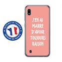 TPU0TPU0A10RAISONROSE - Coque souple pour Samsung Galaxy A10 avec impression Motifs marre d'avoir raison rose