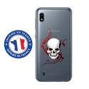 TPU0TPU0A10SKULLTRIBAL - Coque souple pour Samsung Galaxy A10 avec impression Motifs tête de mort sur fond tribal