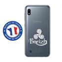 TPU0TPU0A10TRISKEL - Coque souple pour Samsung Galaxy A10 avec impression Motifs Triskel Celte blanc