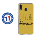 TPU0TPU0A20CHIEUSEOR - Coque souple pour Samsung Galaxy A20 avec impression Motifs Chieuse d'Amour or