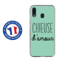 TPU0TPU0A20CHIEUSETURQUOISE - Coque souple pour Samsung Galaxy A20 avec impression Motifs Chieuse d'Amour turquoise