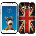 TPU1COREPRIMEDRAPUKVINTAGE - Coque Souple en gel noir pour Samsung Galaxy Core Prime avec impression Motifs drapeau UK vintag