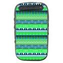 TPU1CURVE9320AZTEQUEBLEUVER - Coque souple pour Blackberry Curve 9320 avec impression Motifs azt�que bleu et vert