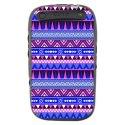 TPU1CURVE9320AZTEQUEBLEUVIO - Coque souple pour Blackberry Curve 9320 avec impression Motifs azt�que bleu et violet