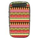 TPU1CURVE9320AZTEQUEJAUROU - Coque souple pour Blackberry Curve 9320 avec impression Motifs azt�que jaune et rouge