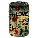 TPU1CURVE9320LOVEVINTAGE - Coque souple pour Blackberry Curve 9320 avec impression Motifs Love Vintage