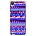 TPU1DES630AZTEQUEBLEUVIO - Coque souple pour HTC Desire 630 avec impression Motifs aztèque bleu et violet
