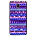 TPU1FREDDYAZTEQUEBLEUVIO - Coque souple pour Wiko Freddy avec impression Motifs aztèque bleu et violet