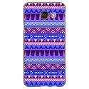 TPU1GALA32016AZTEQUEBLEUVIO - Coque souple pour Samsung Galaxy A3-2016 avec impression Motifs aztèque bleu et violet