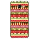 TPU1GALA32016AZTEQUEJAUROU - Coque souple pour Samsung Galaxy A3-2016 avec impression Motifs aztèque jaune et rouge