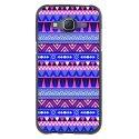 TPU1GALJ5AZTEQUEBLEUVIOLET - Coque Souple en gel pour Samsung Galaxy J5 avec impression Motifs aztèque bleu et violet