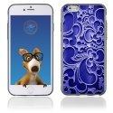 TPU1IPHONE6ARABESQUEBLEU - Coque Souple en gel pour Apple iPhone 6 avec impression arabesque bleu
