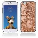 TPU1IPHONE6ARABESQUEBRONZE - Coque Souple en gel pour Apple iPhone 6 avec impression arabesque bronze