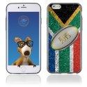 TPU1IPHONE6BALLONAFRIQUESUD - Coque Souple en gel pour Apple iPhone 6 avec impression ballon de rugby et drapeau de l'Afrique du S