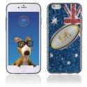 TPU1IPHONE6BALLONAUSTRALIE - Coque Souple en gel pour Apple iPhone 6 avec impression ballon de rugby et drapeau de l'Australie