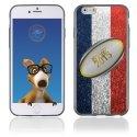 TPU1IPHONE6BALLONFRANCE - Coque Souple en gel pour Apple iPhone 6 avec impression ballon de rugby et drapeau de la France
