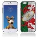 TPU1IPHONE6BALLONGALLE - Coque Souple en gel pour Apple iPhone 6 avec impression ballon de rugby et drapeau du Pays de Galles