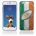 TPU1IPHONE6BALLONIRLANDE - Coque Souple en gel pour Apple iPhone 6 avec impression ballon de rugby et drapeau de l'Irlande