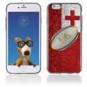 TPU1IPHONE6BALLONTONGA - Coque Souple en gel pour Apple iPhone 6 avec impression ballon de rugby et drapeau Tonga