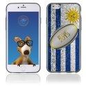 TPU1IPHONE6BALLONURUGUAY - Coque Souple en gel pour Apple iPhone 6 avec impression ballon de rugby et drapeau de l'Uruguay