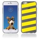 TPU1IPHONE6BANDESJAUNES - Coque Souple en gel pour Apple iPhone 6 avec impression bandes jaunes