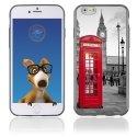 TPU1IPHONE6CABINEUK - Coque Souple en gel pour Apple iPhone 6 avec impression cabine téléphonique UK rouge