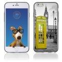 TPU1IPHONE6CABINEUKJAUNE - Coque Souple en gel pour Apple iPhone 6 avec impression cabine téléphonique UK jaune