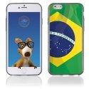 TPU1IPHONE6DRAPBRESIL - Coque Souple en gel pour Apple iPhone 6 avec impression drapeau du Brésil