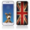 TPU1IPHONE6DRAPUKVINTAGE - Coque Souple en gel pour Apple iPhone 6 avec impression drapeau UK vintage