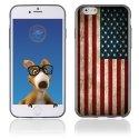 TPU1IPHONE6DRAPUSAVINTAGE - Coque Souple en gel pour Apple iPhone 6 avec impression drapeau USA vintage