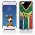 TPU1IPHONE6GOLDAFRIQUESUD - Coque Souple en gel pour Apple iPhone 6 avec impression logo rugby doré et drapeau de l'Afrique du