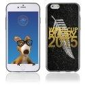 TPU1IPHONE6GOLDALLBLACKS - Coque Souple en gel pour Apple iPhone 6 avec impression logo rugby doré et drapeau des All Blacks