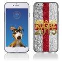 TPU1IPHONE6GOLDANGLETERRE - Coque Souple en gel pour Apple iPhone 6 avec impression logo rugby doré et drapeau de l'Angleterre