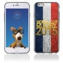 TPU1IPHONE6GOLDFRANCE - Coque Souple en gel pour Apple iPhone 6 avec impression logo rugby doré et drapeau de la France